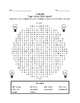 I Can See! - Light Energy Word Search *FREEBIE*