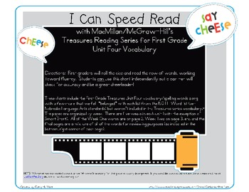 I Can Speed Read {Treasures Unit Four}