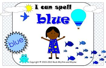 I Can Spell Blue – Literacy and Reading Unit