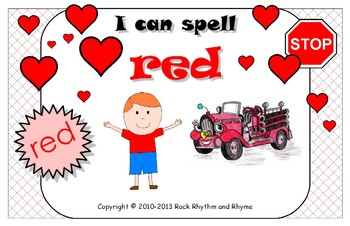 I Can Spell Red – Literacy and Reading Unit