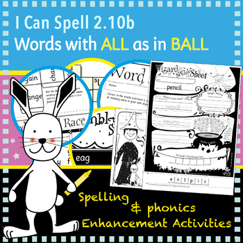 I Can Spell: Words Containing al/all
