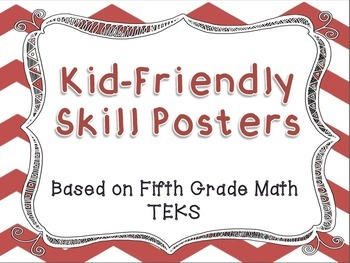 I Can Statement Posters - Fifth Grade Math TEKS