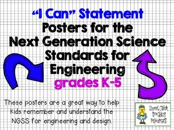 """FREE - """"I Can"""" Statement Posters for the NGSS Engineering"""
