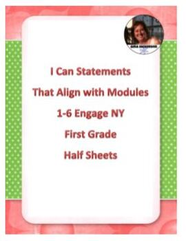 """""""I Can"""" Statements Aligned with EngageNY Math First Grade"""