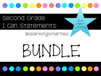 I Can Statements Bundle for 2nd Grade