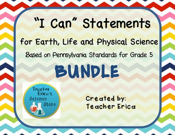 I Can Statements Gr 5- Bundle