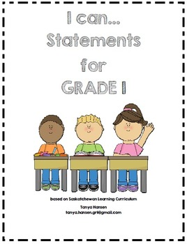 I Can Statements Grade 1 Saskatchewan