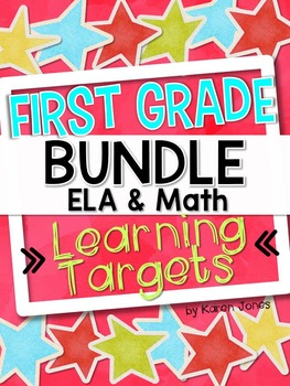 I Can Statements -- Learning Targets for First Grade ELA &
