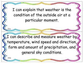 I Can Statements - NY K - 4 Science - Physical Setting - P