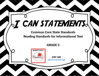 I Can Statements - Reading Standards for Informational Tex