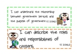 I Can Statements-Science and Social Studies-2nd Grade