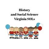 I Can Statements - Virginia 1st Grade Social Studies SOLs