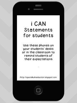 I Can Statements and Expectations for Students