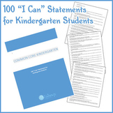 """I Can"" Statements for Common Core Kindergarten."