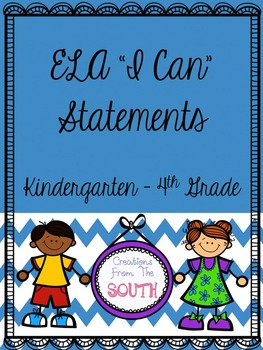 """""""I Can"""" Statements for ELA Bundled!"""