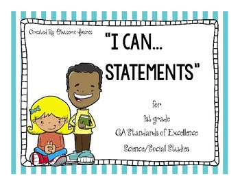 I Can Statements for GA Performance Standards Science and
