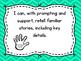 I Can Statements for Kindergarten Language - Michigan Standards