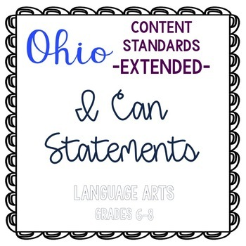 Ohio Academic Content Standards Extended I Can Statements-