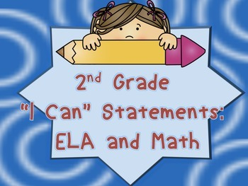 I Can Statements for Second Grade: Neutral Theme