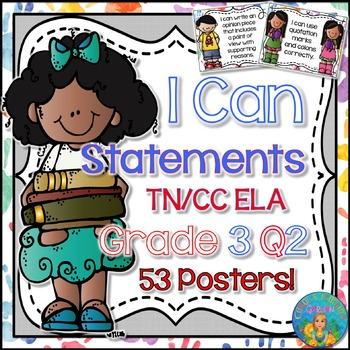 I Can Statements for Tennessee ELA Grade 3 Second Quarter