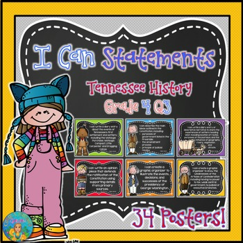 I Can Statements for Tennessee History Grade 4 Third Quart