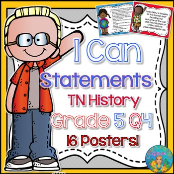 I Can Statements for Tennessee History Grade 5 Fourth Quar