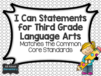 I Can Statements for Language Arts