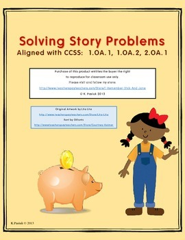 """I Can"" Story Problem Checklist and activity"