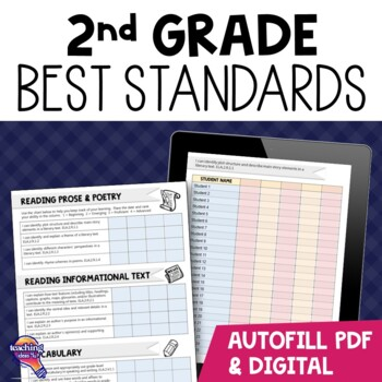 """I Can"" Student Checklists for 2nd Grade Florida Standards"