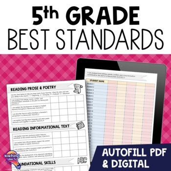 """""""I Can"""" Student Checklists for 5th Grade Florida Standards"""