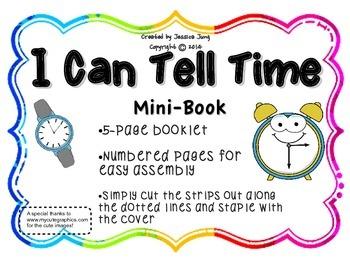 I Can Tell Time {Mini-Book}