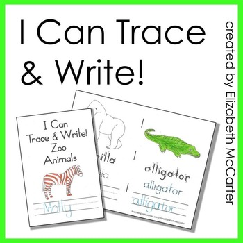 5 Trace and Write Animal Handwriting Booklets