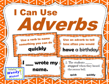 I Can Use Adverbs:  4 Activities