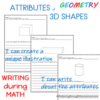 Shapes  Attributes of 3D Shapes  Integrating Writing and Math