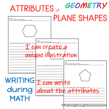 I Can Write About the Attributes of Plane  Shapes