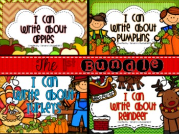 I Can Write About...Apples, Pumpkins, Turkeys & Reindeer {BUNDLE}