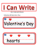 I Can Write Collection #4- Valentines Day (Picture Word Cards)