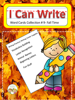I Can Write Collection #9- Autumn Time (Picture Word Cards)