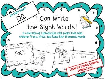 """I Can Write the Sight Word DO"" Mini Book"