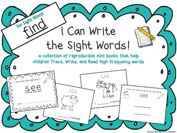"""I Can Write the Sight Word FIND"" Mini Book"