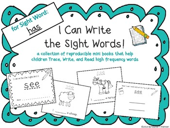 """""""I Can Write the Sight Word HAS"""" Mini Book"""