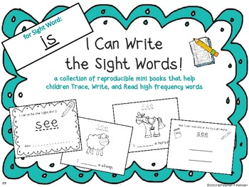 """I Can Write the Sight Word IS"" Mini Book"
