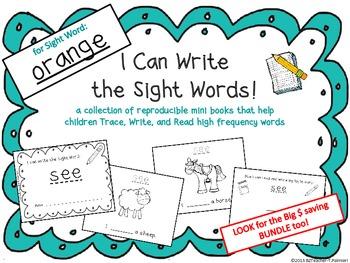 """I Can Write the Sight Word ORANGE"" Mini Book"