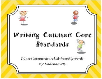 I Can Writing Standards