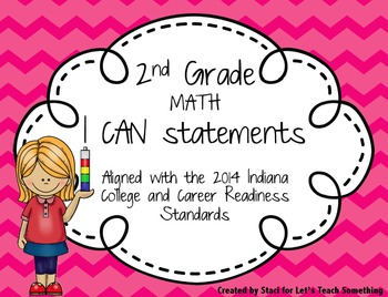 """I Can"" statements for 2nd Grade Math and Reading"