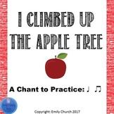 I Climbed Up the Apple Tree Printables