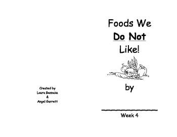 I DO NOT LIKE WORD BOOK- WEEK 4