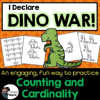I Declare Dino War! A card game to compare number sets 0 -