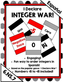 I Declare Integer War! A card game to compare integers (SPANISH!)