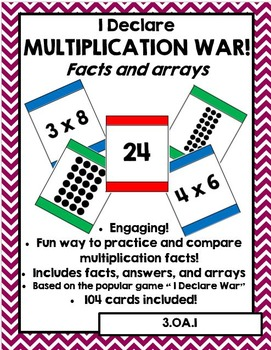 I Declare Multiplication War: Facts and Arrays (Multiplica